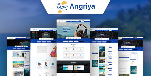 Angriya -  PSD Template for Travel Agent - Travel Retail