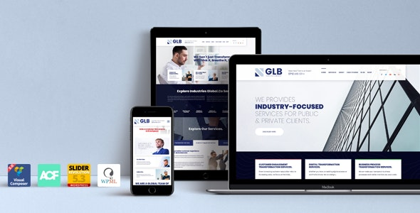 Glb - Responsive Multi-purpose WordPress Theme - Business Corporate