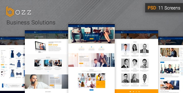 Bozz — Corporate and Business PSD Template - Business Corporate