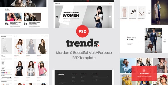 trends - Multipurpose Ecommerce PSD Template - Fashion Retail