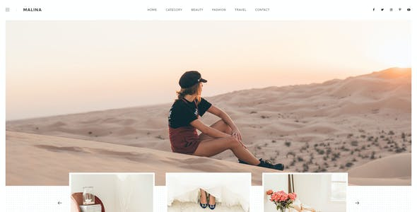 Malina - Personal Blog PSD Template