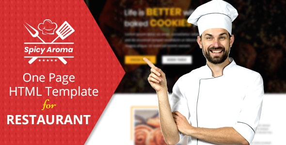 Spicy Aroma One Page HTML - Food Retail