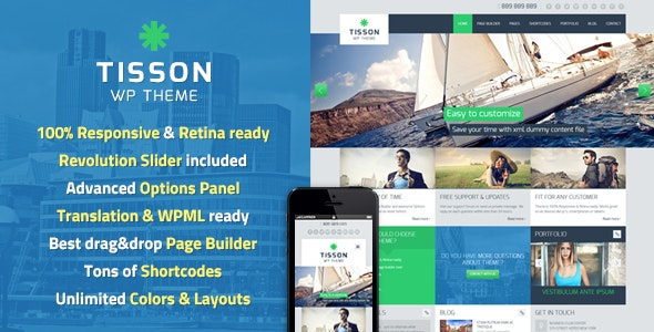 Tisson WordPress Theme - Business Corporate