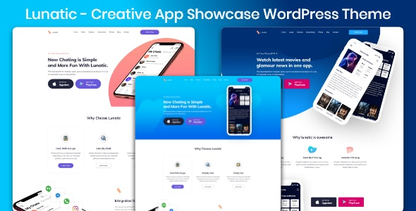 Software Service Lunatic - App Landing Theme - Technology WordPress