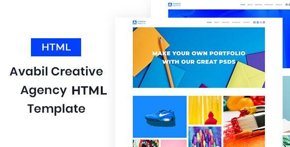 Avabil - Creative Agency HTML Template - Portfolio Creative