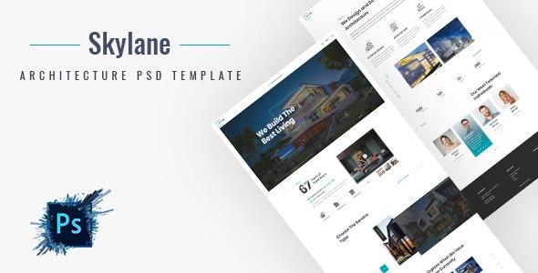 Skylane | Creative Architecture PSD Template - Corporate Photoshop