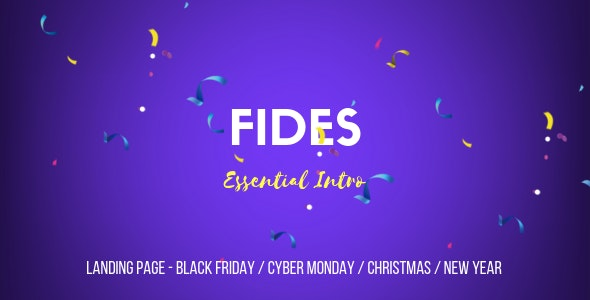 Fides - Essential Intro | Black Friday  | Cyber Monday | Christmas | Campaign Landing Page Template - Specialty Pages Site Templates