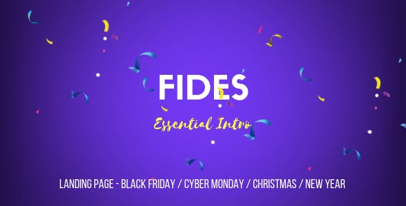 Fides - Essential Intro | Black Friday  | Cyber Monday | Christmas | Campaign Landing Page Template