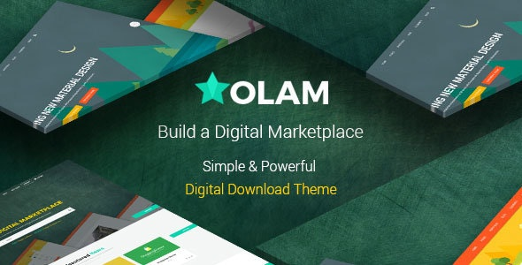 Olam - Easy Digital Downloads Marketplace WordPress Theme - eCommerce WordPress