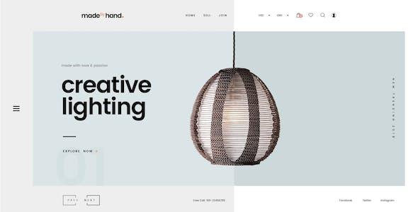 MadebyHand - Minimal Handmade eCommerce WordPress Theme