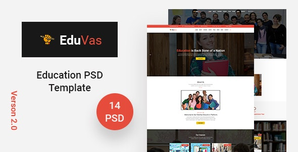 EduVas- Education PSD Template - Miscellaneous Photoshop