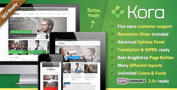 Kora WordPress Theme - Business Corporate