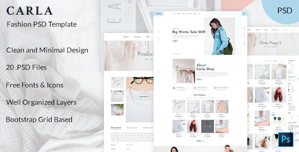 Carla - Clothing and Fashion PSD Template - Fashion Retail