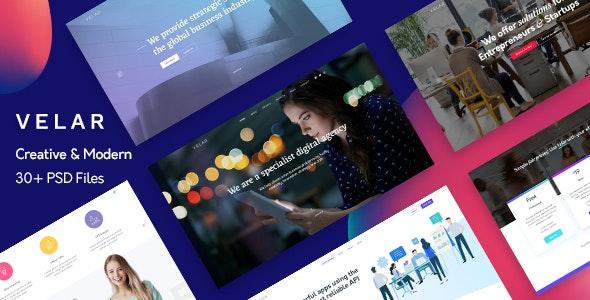 Velar — Creative and Modern Multipurpose PSD Template - Creative PSD Templates