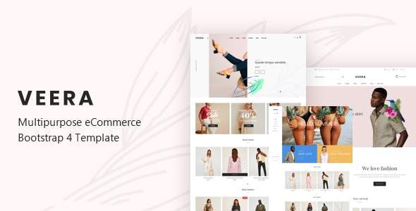 Veera - Multipurpose eCommerce Bootstrap 4 Template