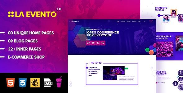 La Evento - Event, Conference & Meetup HTML Template - Events Entertainment