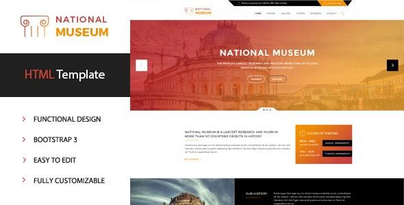 Museum - Premium HTML Template - Miscellaneous Site Templates