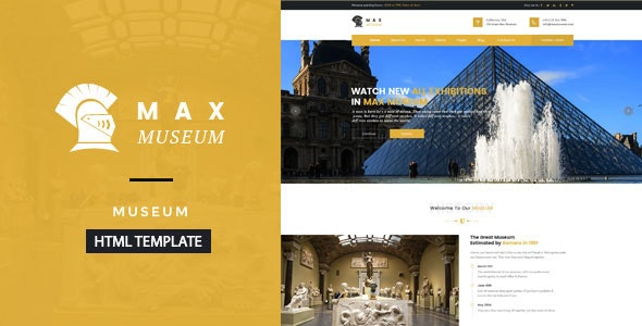Max Museum - Historical & Artifacts HTML Template - Miscellaneous Site Templates