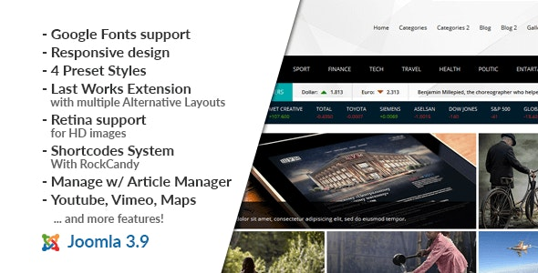 NEWS24 :: Magazine Joomla Template - News / Editorial Blog / Magazine