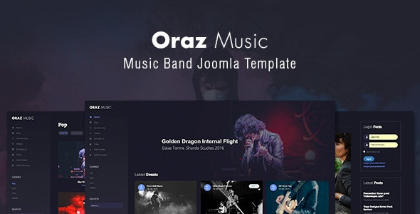 Oraz - Music Band Joomla Template - Music and Bands Entertainment