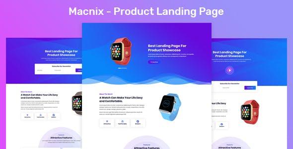 Macnix - Product Landing Page
