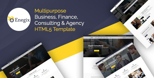 Enegix - Multipurpose Business, Finance, Consultaing & Agency Web Template - Business Corporate