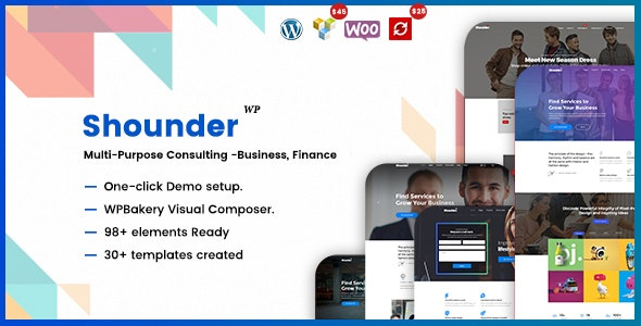 Shounder - Multi-Purpose Consulting Business WordPress Theme - Business Corporate