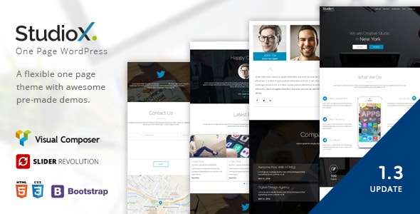 StudioX - One Page WordPress - Creative WordPress
