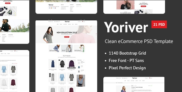 Yoriver - Responsive eCommerce PSD Template - Fashion Retail