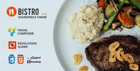 Bistro - Food & Restaurant WordPress - Restaurants & Cafes Entertainment
