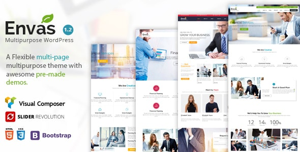Envas - Multipurpose WordPress - Corporate WordPress