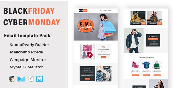 BlackFriday - Multipurpose Responsive Email Template With Mailchimp Editor & Online StampReady Build - Newsletters Email Templates