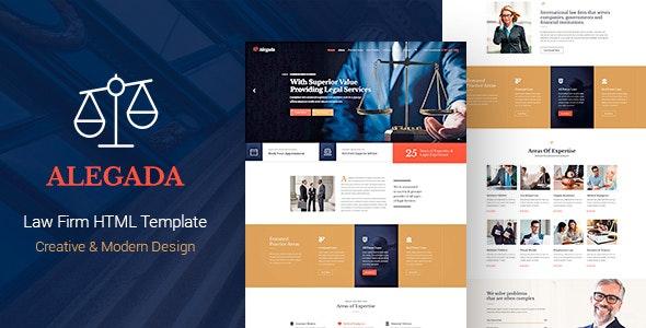 Alegada - Law HTML Template - Business Corporate