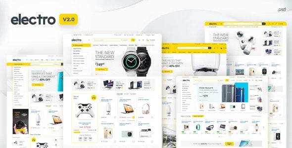 Electro - Electronics eCommerce PSD - Retail Photoshop
