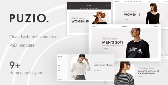 Puzio - Creative eCommerce PSD Template - Photoshop UI Templates