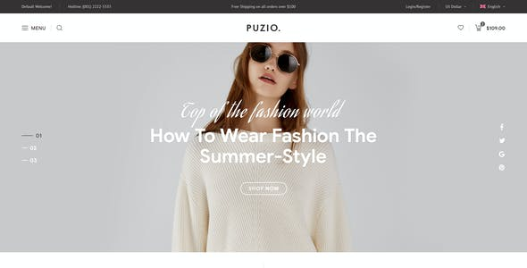 Puzio - Creative eCommerce PSD Template