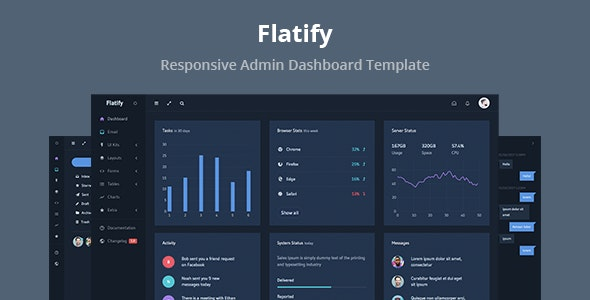 Flatify - Responsive Admin Dashboard Template - Admin Templates Site Templates