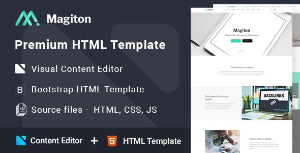 Magiton - Business  Multipage HTML5 Template