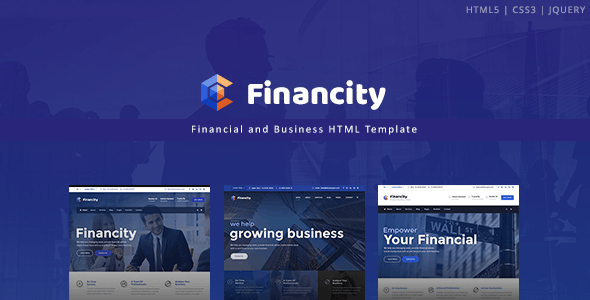 Financity - Business / Financial / Finance HTML Template - Business Corporate