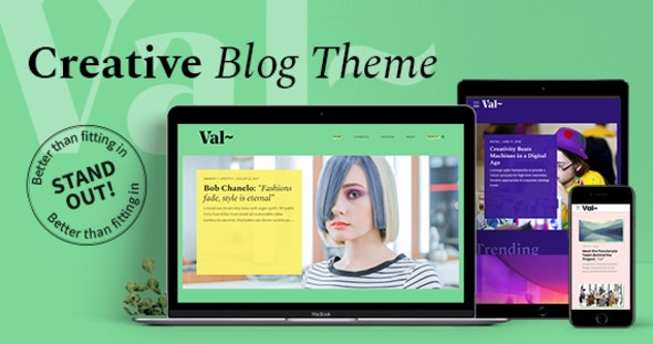Val – Creative Blog - Personal Blog / Magazine