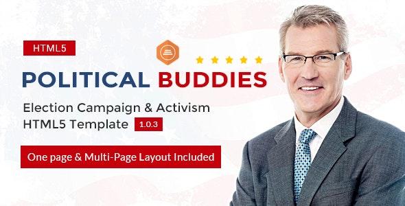 Political Buddies - Election Campaign & Activism HTML5 Template - Political Nonprofit