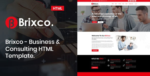 Brixco – Business &  Consulting  HTML Template - Business Corporate