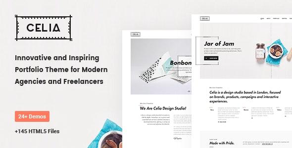 Celia - Innovative and Inspiring Portfolio HTML5 Template for Modern Agencies and Freelancers - Portfolio Creative
