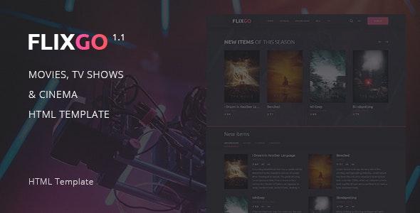 FlixGo – Online Movies, TV Shows & Cinema HTML Template - Film & TV Entertainment