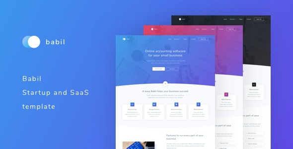 Babil - Startup and SaaS template - Business Corporate