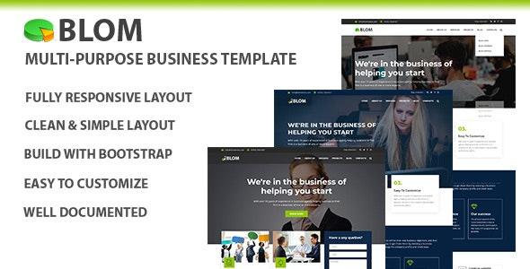 Blom - Multi-purpose Business Template - Business Corporate