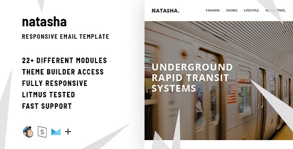 Natasha  – Responsive HTML Email + StampReady, MailChimp & CampaignMonitor compatible files - Email Templates Marketing