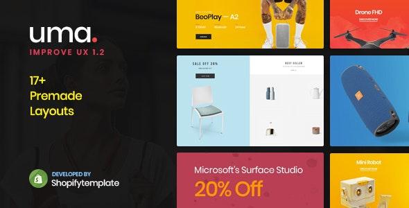 Uma - Minimal Clean Multiple Shopify Theme - Shopify eCommerce