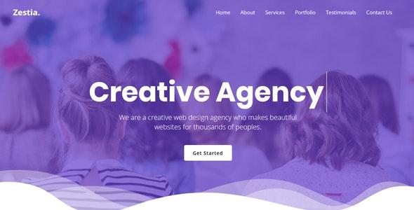 Zestia - OnePage Creative Agency Template - Creative Site Templates