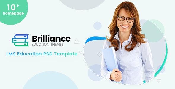 Brilliance   LMS Education PSD Template - Corporate Photoshop